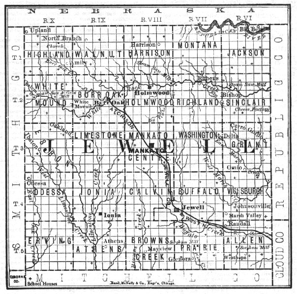 1900 Jewell County Map